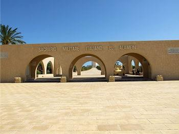 El Alamein Italian memorial entrance 350 260 min