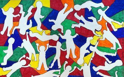 keith haring group work art lesson medium 420